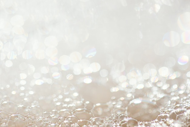 Oberfläche von seifenschaum und blasen, makro