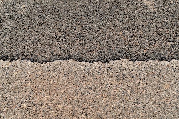 Oberflächenalte asphaltstraße
