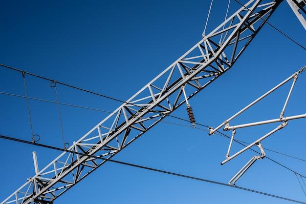 Oberleitung eines elektrischen zuges.