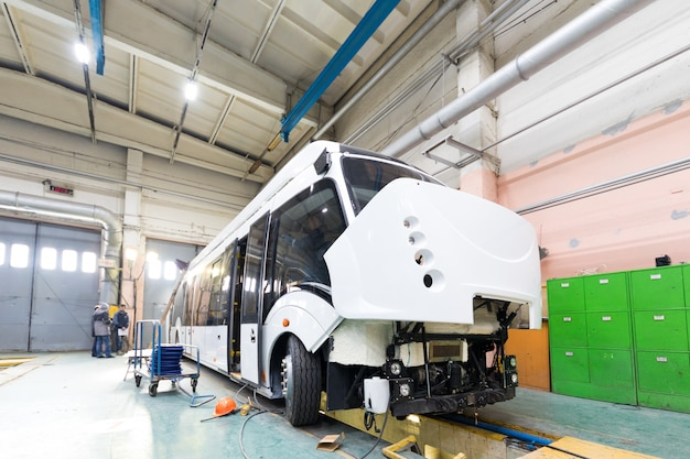 Oberleitungsbus-produktionslinie