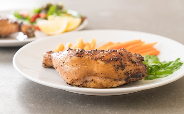 Oberschenkel hähnchen steak