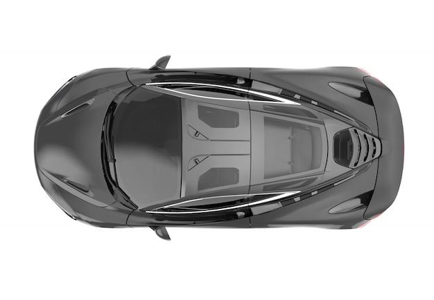 Oberseite eines modernen generischen markenlosen sportwagens