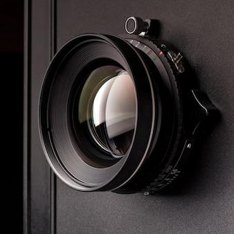 Objektiv auf einer alten kamera