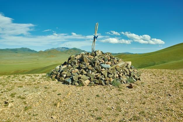 Obo pass ulaan davaa, hauptstadt der provinz uvs in der mongolei.