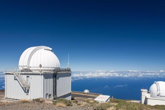 Observatorium auf dem vulkan caldera de taburiente