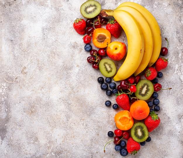 Obst und beeren sommer hintergrund