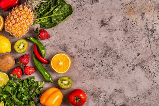Obst und gemüse reich an vitamin c.