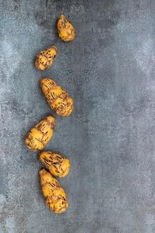 Oca, knolle, die in der peruanischen küche und in den amerikanischen anden verwendet wird