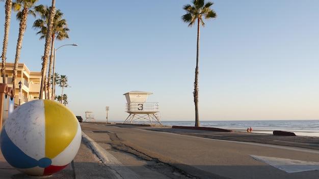 Ocean beach kalifornien usa ball rettungsschwimmer turm rettungsschwimmer wachturm hütte strand palme