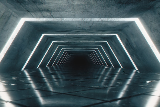 Odern futuristischer leerer korridor