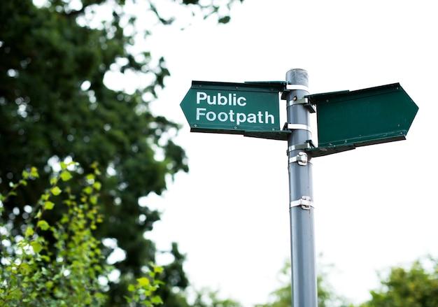Öffentliches fußwegzeichen