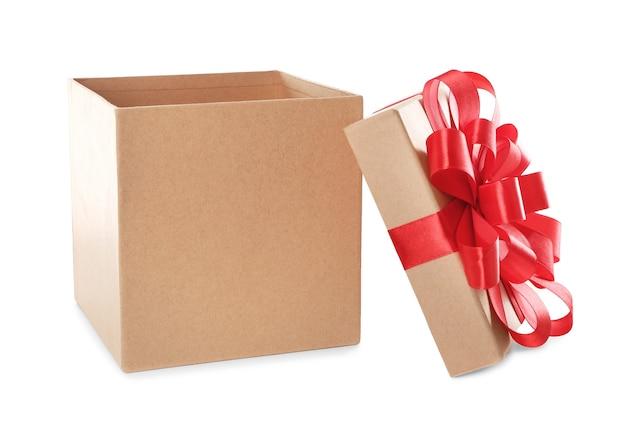 Öffne schöne geschenkbox