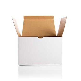 Öffnen der weißen box