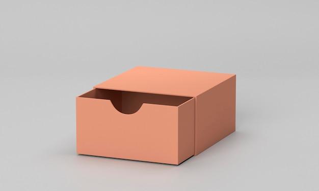 Öffnen sie den braunen karton