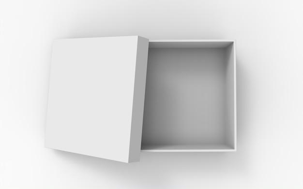 Öffnen sie die quadratischen verpackungsboxen mit offener kappe
