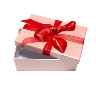 Öffnen sie die rote geschenkbox isoliert
