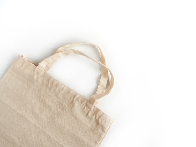 Öko einkaufstasche aus stoff. das konzept des naturschutzes, der ökologie