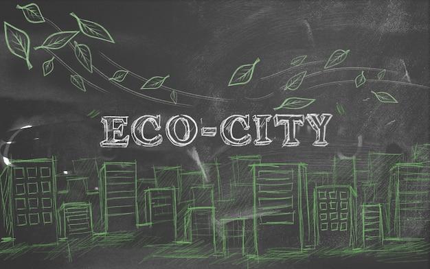 Öko-stadt grün tourismus text tafel