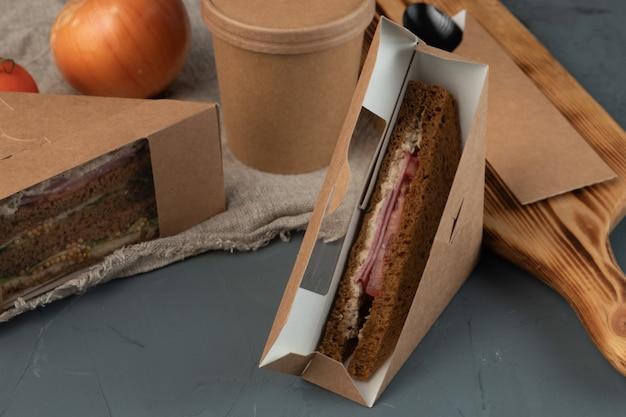 Öko-verpackungskarton-lebensmittelbehälter für lieferservice