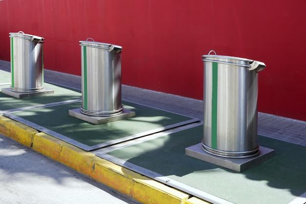 Ökologisch selektive abfallarten müllcontainer