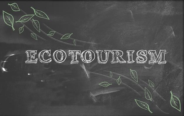Ökotourismus grüne tourismus tafel