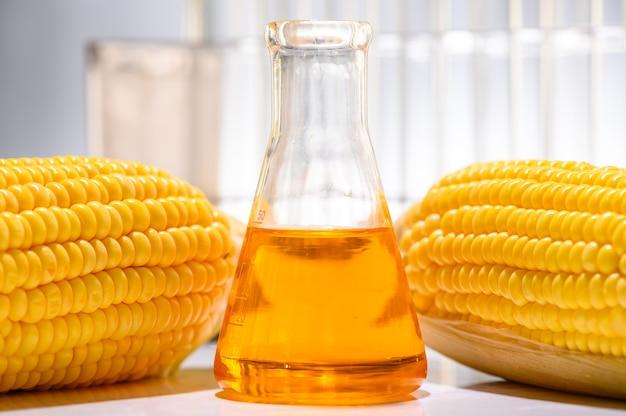Öl- und biokraftstofflösung im chemielabor