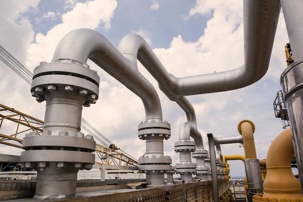 Öl- und gasproduktions-erdölpipeline der offshore-industrie.