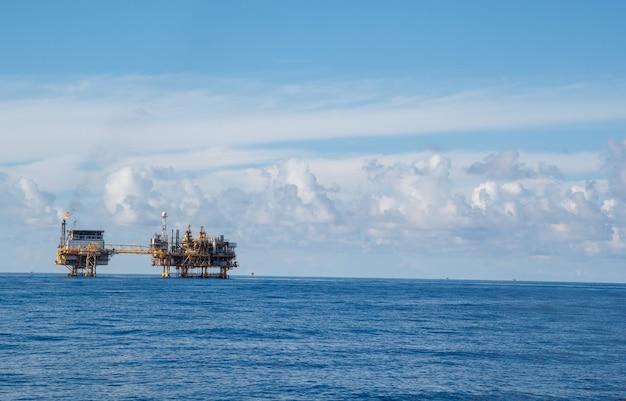 Öl- und gasproduktionsprozess flachform auf offshore