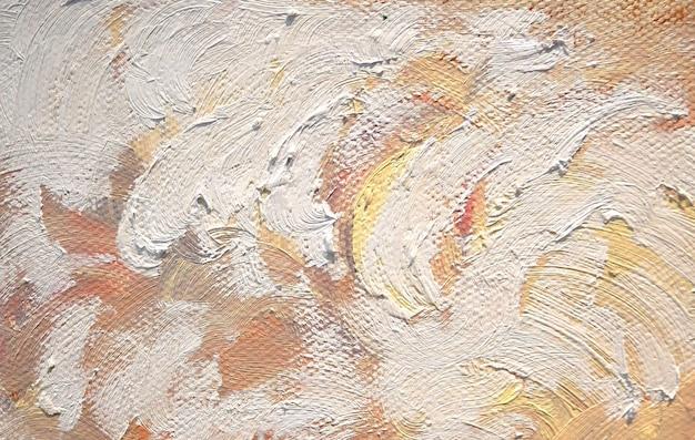 Ölfarbenbeschaffenheit mit pinselstrichen, fragment des hintergrunds der acrylmalerei.