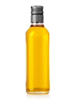 Ölflasche isoliert auf weiss mit beschneidungspfad