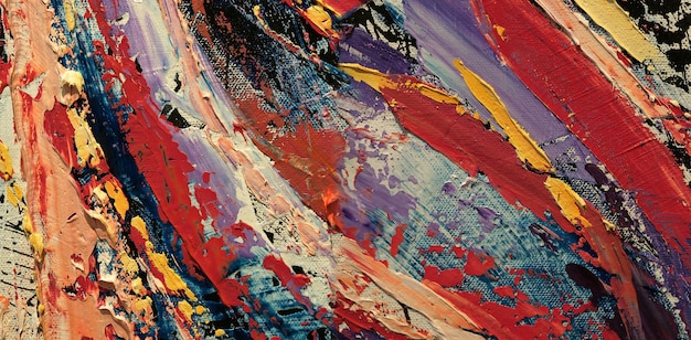Ölgemälde auf abstraktem hintergrund der leinwand mit textur.