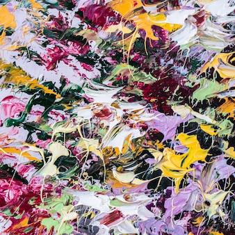 Ölgemälde auf leinwand abstrakte kunst hintergrundfragment moderner kunstwerke pinselstriche von farbe