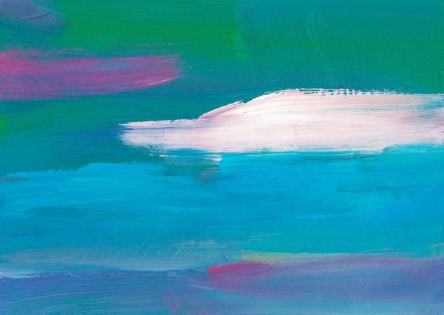 Ölhintergrundmalerei, blaue, weiße, lila, grüne, türkisfarbene textur