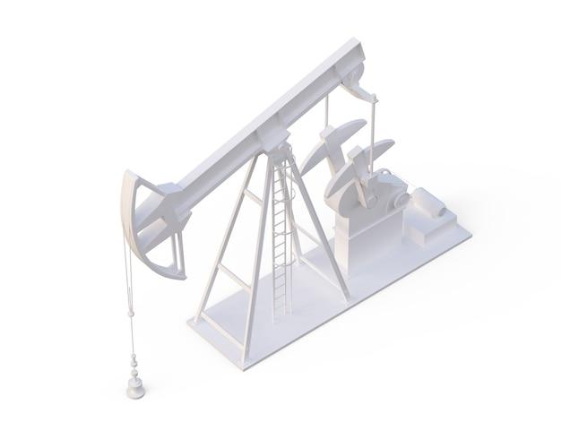 Ölpumpe 3d-darstellung von ausrüstung für die erdölindustrie energieindustriekonzept kraftstofffabrik