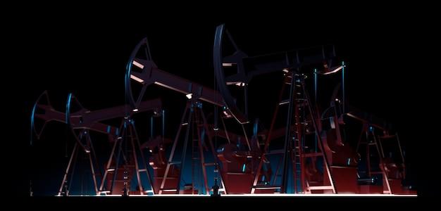 Ölpumpe 3d-render erdölindustrie ausrüstung energie industriekonzept kraftstofffabrik viz vi