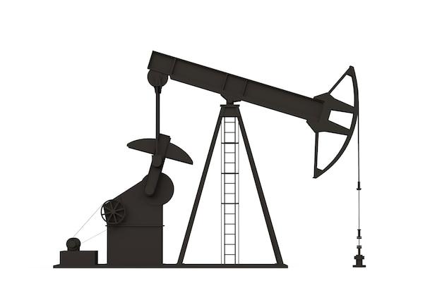 Ölpumpe 3d-rendering silhouette der erdölindustrie ausrüstung energie industriekraftstofffabrik