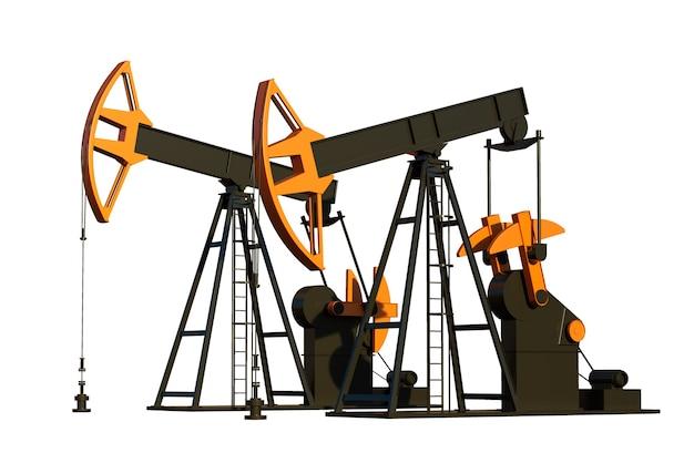 Ölpumpe derrick 3d-render erdölindustrie ausrüstung energie industrie viz vi
