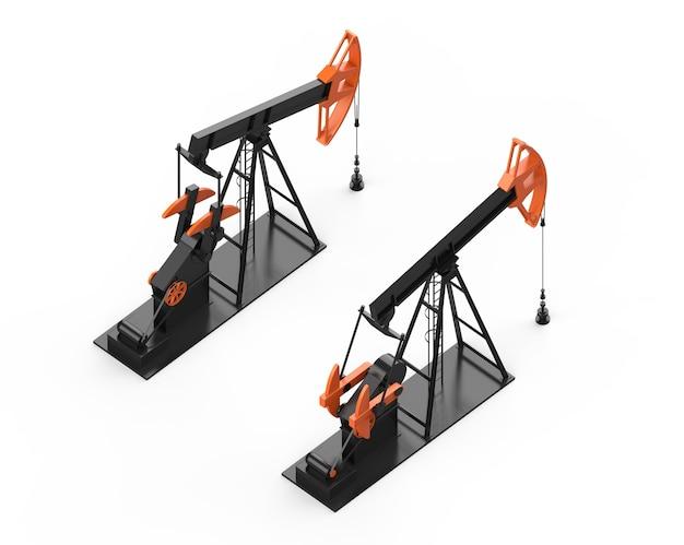 Ölpumpe erdölindustrie ausrüstung kraftstofffabrik produktion ölfeld entwicklung isometrisch