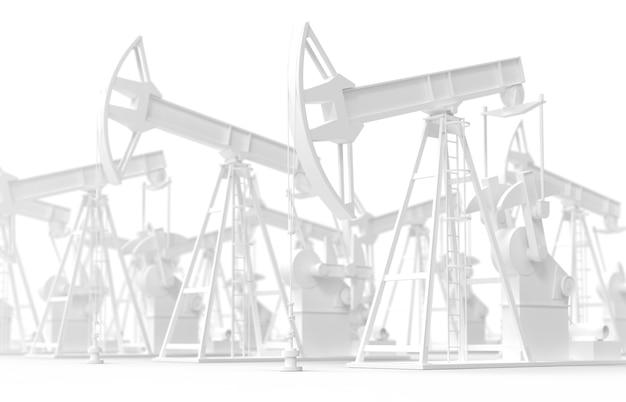 Ölpumpe jack erdölindustrie ausrüstung isoliertes energieindustriekonzept