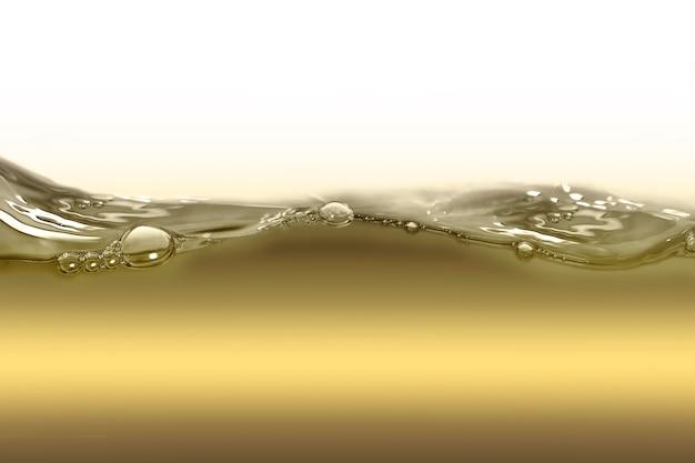 Ölwelle auf weißem hintergrund