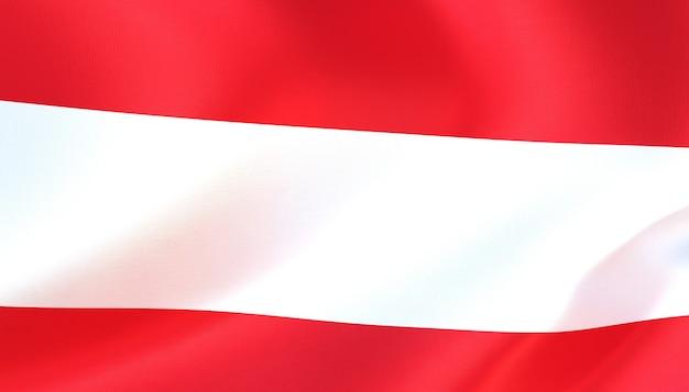 Österreich-flagge 3d-rendering mit textur