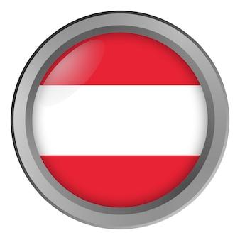 Österreich-flagge rund als knopf