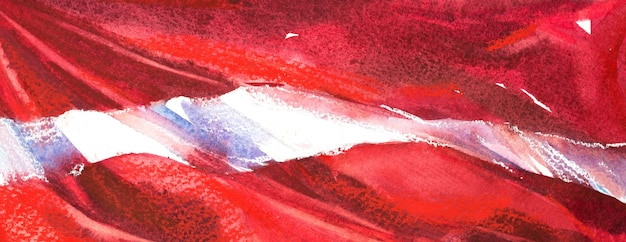 Österreich, österreichische flagge. handgezeichnete aquarellillustration.