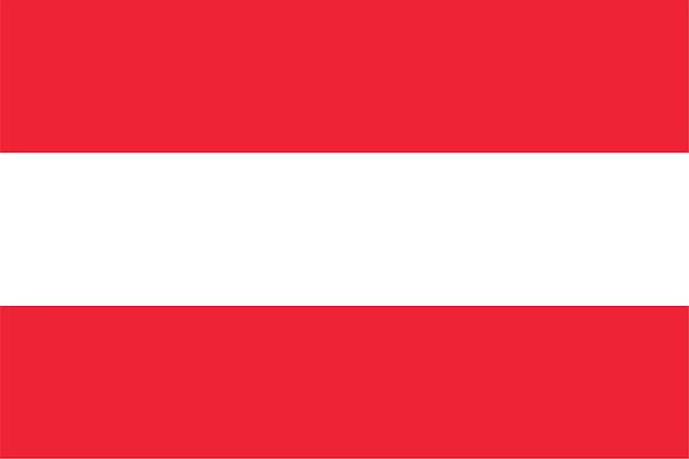 Österreichische flagge von österreich