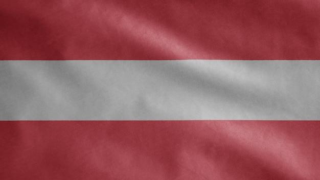 Österreichische flagge weht im wind