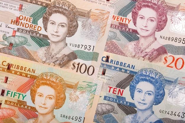 Östlicher karibischer dollar ein geschäftshintergrund