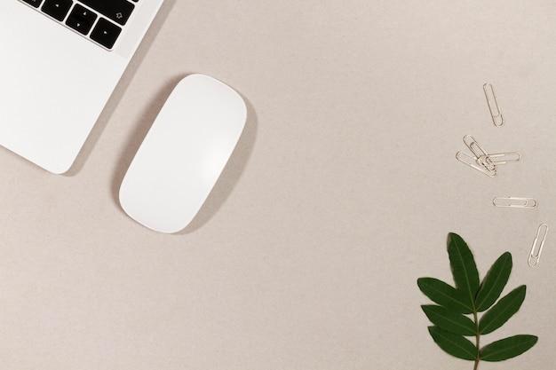 Office-gadgets mit zweig und clips