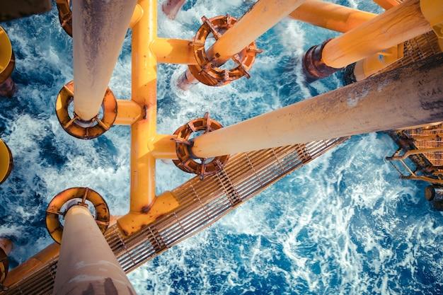 Offshore-bohrer gelbe öl- und gasproduktions-erdölpipeline.