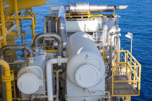 Offshore der industrie öl- und gasproduktionstank erdölpipeline.