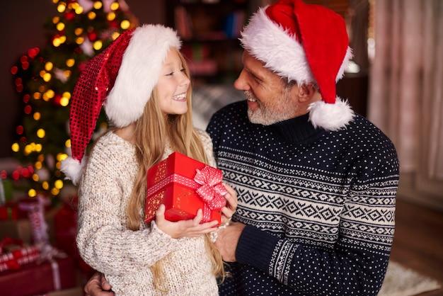 Oh papa, danke für das weihnachtsgeschenk Kostenlose Fotos